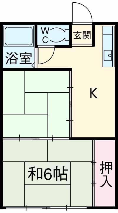第二小峰荘・7号室の間取り