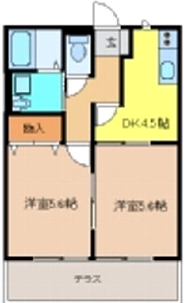 メゾン・ド・フローラⅡ・101号室の間取り