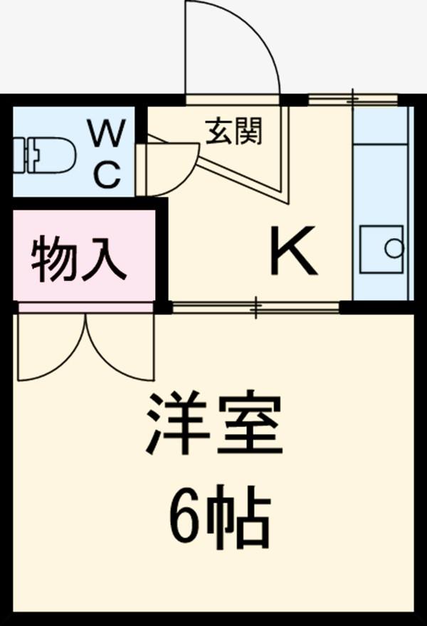 本田マンション・1-405号室の間取り