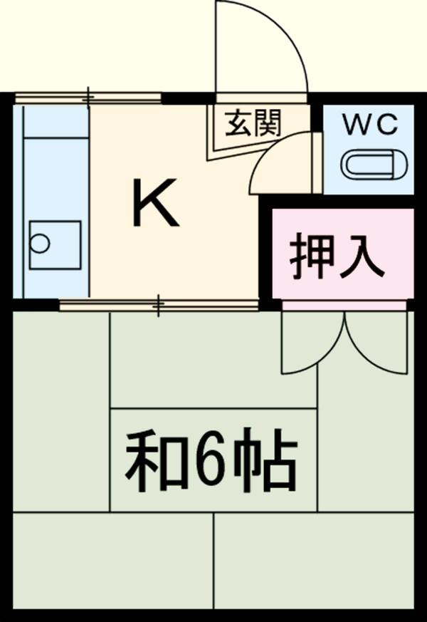 本田マンション・1-411号室の間取り