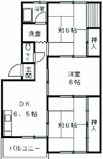 浅野第三ビル 105号室の間取り