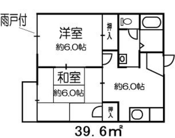 リバーサイド戸田B 202号室の間取り