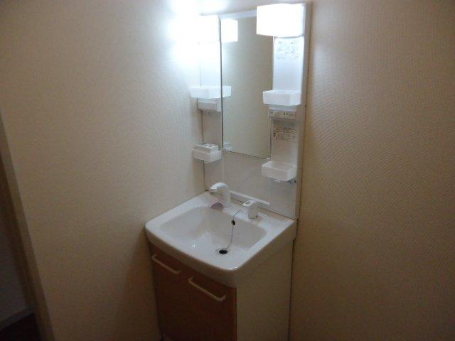 レインボー S・R 00101号室の洗面所