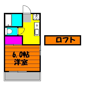 第二ダイケンハイツ・102号室の間取り
