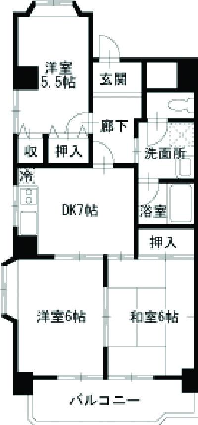 大宮セントラルマンション 304号室の間取り