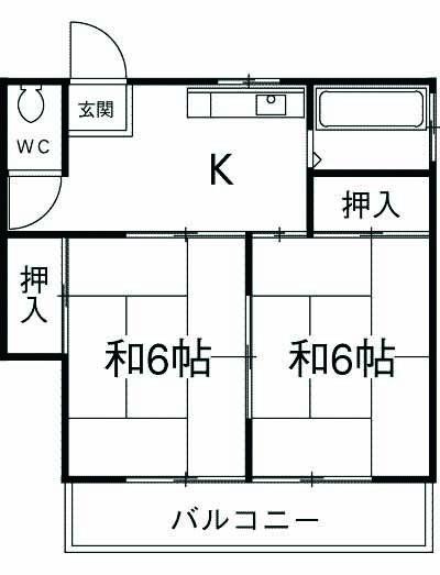 秀栄ハウス・102号室の間取り