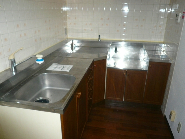 ドルフヤマノウチB 303号室のキッチン