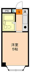 パンシオン南浦和No.1・204号室の間取り