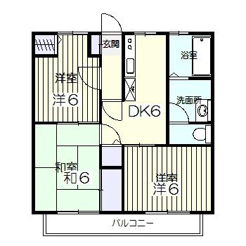 メゾン吉田Ⅱ・201号室の間取り