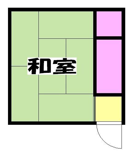 山田荘・B-206号室の間取り