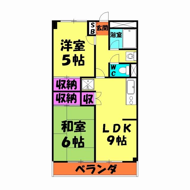 第1武笠ビル 203号室の間取り
