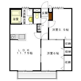 ソレジオ桜ヶ丘・105号室の間取り
