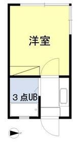 ラディシュ川田・205号室の間取り