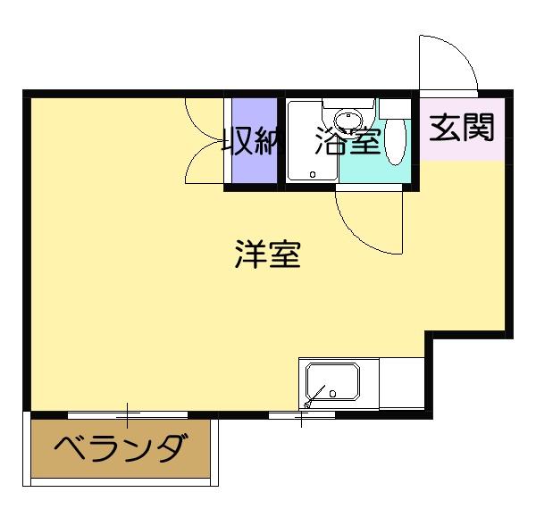 レジデンス津田・305号室の間取り