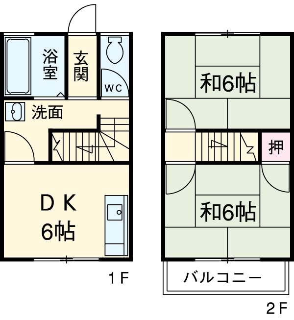 長島アパートA・5号室の間取り