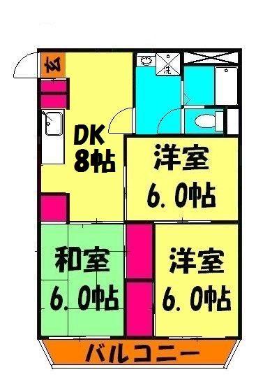 第6池田マンション・203号室の間取り