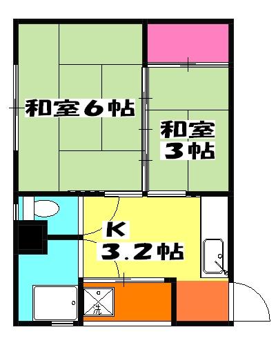 本田マンション・1-408号室の間取り