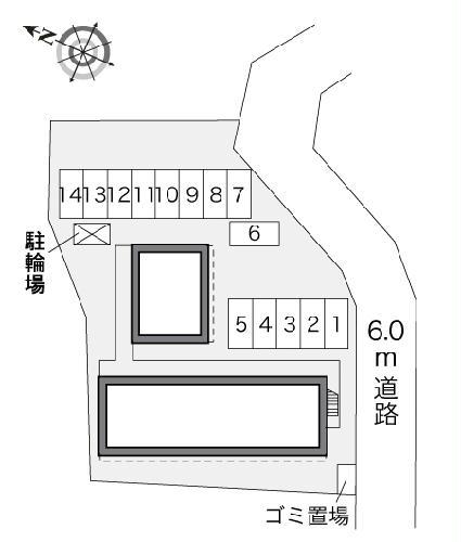 レオパレスYOU 204号室の駐車場