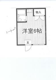 本田マンション1号棟・211号室の間取り