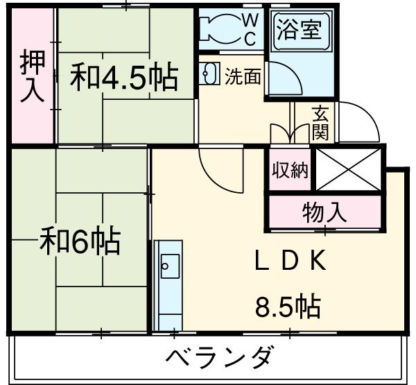 ロイヤル東海 川越中駒ビル・205号室の間取り