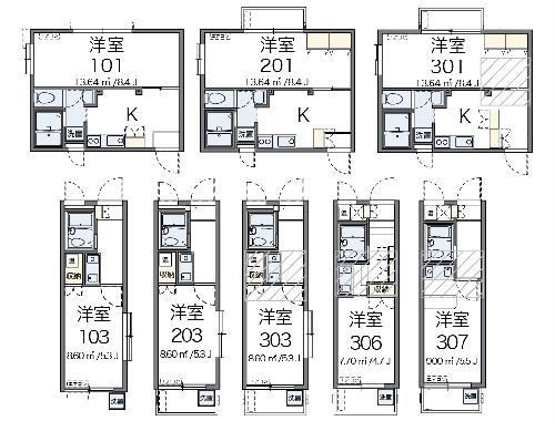 REVANCE HIGASHIURAWA 208号室の間取り