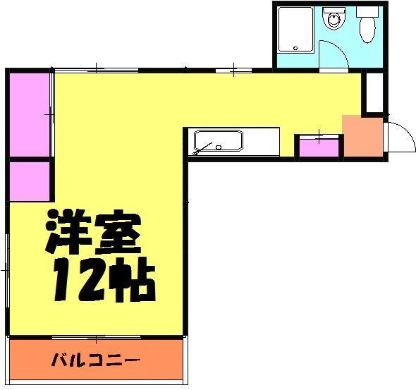 新井マンション・301号室の間取り
