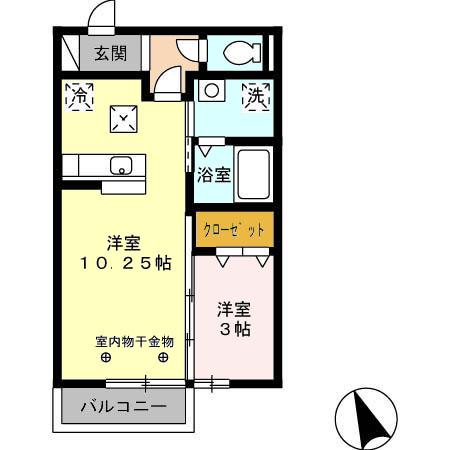 エクレール平田・101号室の間取り