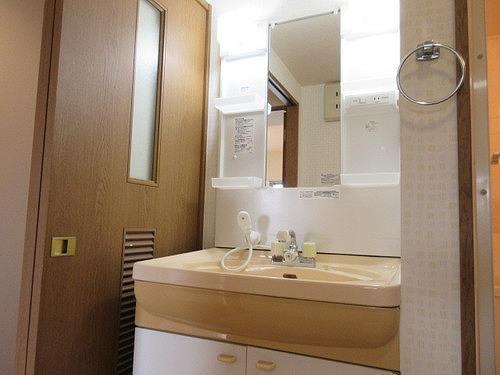 シェルモール采女 303号室の洗面所