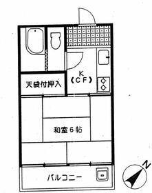 本田マンション2号棟・512号室の間取り
