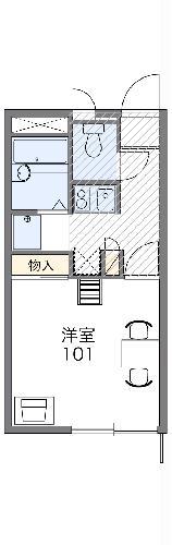 レオパレスNEW TAKAHAMA 101号室の間取り