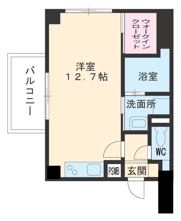 ジョイ桜本町・301号室の間取り