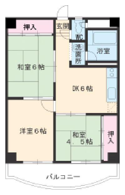 第3菊屋ビル 3E号室の間取り