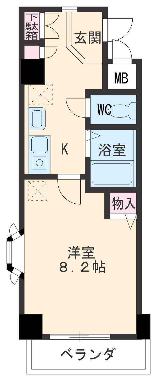 PLAGE HIMURO・101号室の間取り