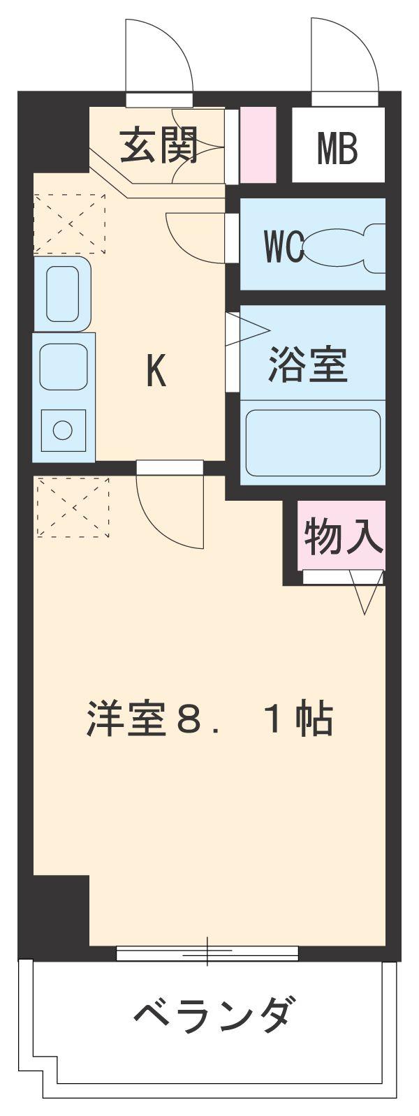 PLAGE HIMURO・202号室の間取り