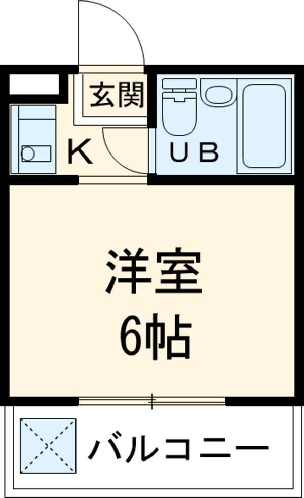 大仁マンションⅠ 106号室の間取り