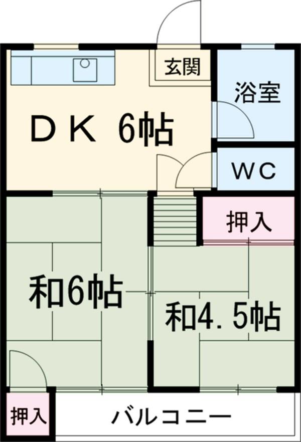 成田マンション・205号室の間取り
