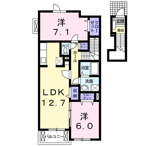 レジデンス ブロッコリーE棟 02030号室の間取り