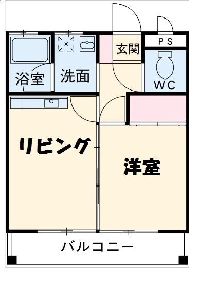 花井第2清風マンション・311号室の間取り