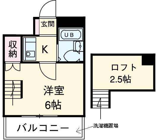 ラ・タヅⅡ・202号室の間取り