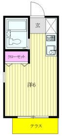 ベルトピア武蔵浦和・101号室の間取り