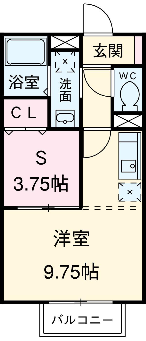 エスポワール豊田・102号室の間取り
