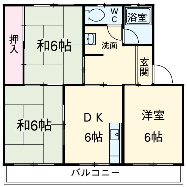 第一大森マンション・105号室の間取り