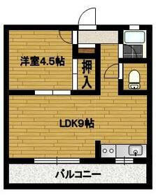 fメゾン堀田 201号室の間取り