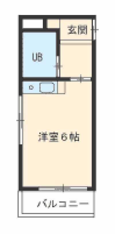 新池第一ビル・4B号室の間取り