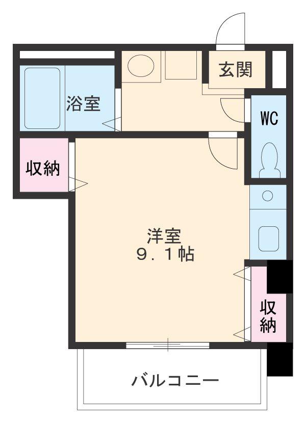 第一中央ビルディング・302号室の間取り