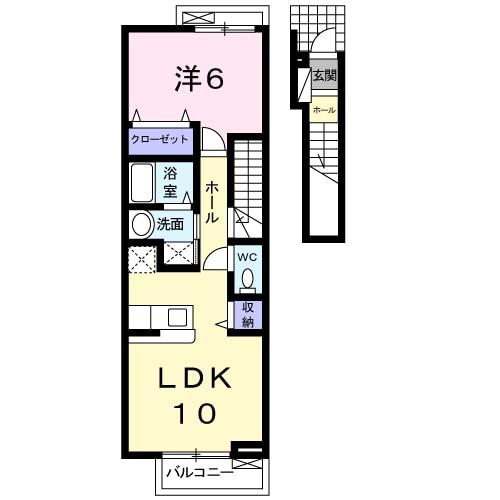 アンジェの郷 B棟・02030号室の間取り