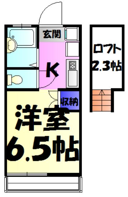 ウィンドヒルA・B・A201号室の間取り