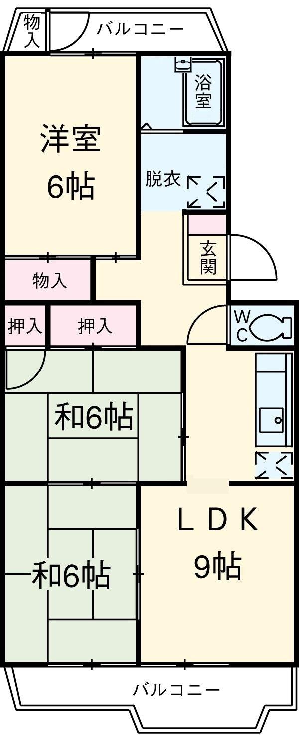 パークマンション 302号室の間取り