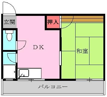 本郷パークハウス・1C号室の間取り