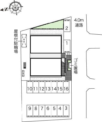 レオパレスサクラⅡ 102号室の駐車場
